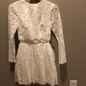 Lace Crop Top Mini Dress